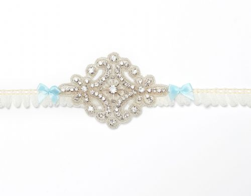 crystal bridal garter, wedding garter